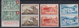 Switzerland 1946 Pro Patria 4v (pair) ** Mnh (43193) - Pro Patria