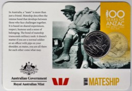 Australia 2015 ANZAC 100 Years - WW1 Mateship Uncirculated 20c - Decimal Coinage (1966-...)