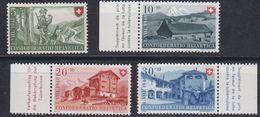 Switzerland 1948 Pro Patria 4v ** Mnh (43193A) - Pro Patria
