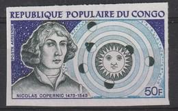 CONGO - Poste Aérienne N°159 ** NON DENTELE (1973) Copernic - Congo - Brazzaville