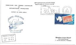 YT 470 - 50 Ans De L'année Géophysique Internationale - Secap De Dumont D'Urville - Terre Adélie - 10/01/2008 - French Southern And Antarctic Territories (TAAF)