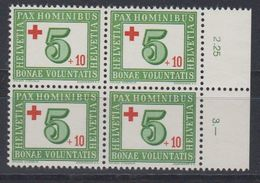 Switzerland 1945 Red Cross 1v Bl Of 4 ** Mnh (43194B) - Zwitserland