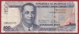 Philippines 100 Piso 2004  Dans L 'état - Philippines