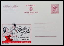 ENTIER CP PUBLIBEL 1975 RIESLING PERLE . WELLENSTEIN ..     NEUF - Publibels