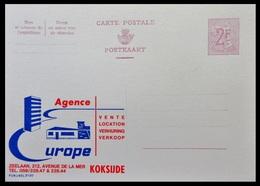 ENTIER CP PUBLIBEL 2120 . AGENCE EUROPE . KORSIJDE     NEUF - Publibels