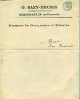 Dépliant Publicitaire SAEY-MEURIS De Schoonaerde (lanternes De Rues) 1912 - Otros