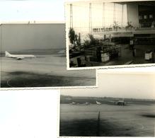 Lot De 3 Photos Zaventem Aéroport Avions Sabena Années 60 - Aviation