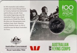 Australia 2015 ANZAC 100 Years - WW1 Flying Corps Uncirculated 20c - Monnaie Décimale (1966-...)