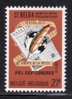 BELGIUM - 1972 FIEJ NEWS AGENCY PRESS LIBERTY STAMP FINE MNH ** SG 2273 - Belgium