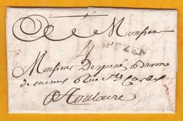 1749 - Marque Postale PEZENAS, Hérault Sur LAC De 3 Pages Vers Toulouse, Haute Garonne - Règne De Louis XV - 1701-1800: Précurseurs XVIII