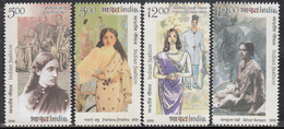 INDIA 2019 INDIAN FASHION, SARI, Saree In Myriad Forms. Popular Lady Wear, 2nd Fashion Series. Set 4v MNH(**) - Ongebruikt