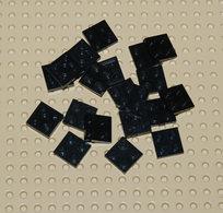 Lego 20x Plate Noir 2x2 Ref 3022 - Lego Technic
