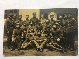 GERMANY 1915 Feldpost Card Ers. Batl. Res. Inf. Regt. 69 Group Soldier Photo - Elsenborn - War 1914-18