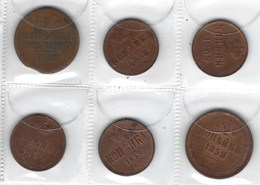 Monnaie De Russie, Lot De 6 Pièces De Russie Ancienne ( à Voir ) - Russia