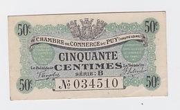 50 Cts. Chambre De Commerce Du Puy 10 Octobre 1916 - Chambre De Commerce