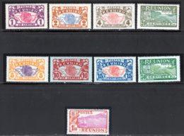 Reunion 1928 Yvert 56 / 58 - 62 - 84 - 86 - 89 - 109 - 110 - 116 ** TB - Réunion (1852-1975)