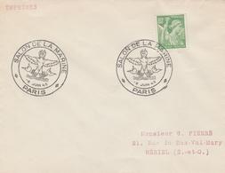 OBLIT. ILLUSTRÉE G.F. SALON De La MARINE - PARIS 8/6/45 - Sirène - Cachets Commémoratifs
