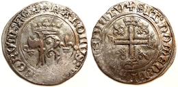 FRANCE MÉDIÉVALE - Charles VIII [1483-1498] - Dizain (Tours) (Dup. 593). - 987-1789 Monnaies Royales