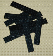 Lego 10x Plate Noir 2x10 Ref 3832 - Lego Technic