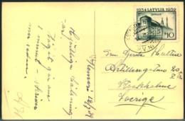 "1939, Picturer Card With TPO ""KEMERI-RIGA"" - Latvia"