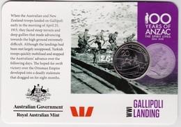 Australia 2015 ANZAC 100 Years - WW1 Gallipoli Landing Uncirculated 20c - Monnaie Décimale (1966-...)