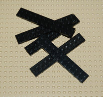 Lego 5x Plate Noir 2x12 Ref 2445 - Lego Technic
