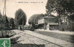 Régny -    La  Gare. - France