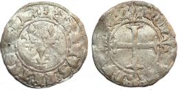 FRANCE MÉDIÉVALE - Charles VI [1380-1422] - Double Tournois (2e émission) - Saint-Pourçain (point 11e) (0,97 G). - 1380-1422 Charles VI Le Fol