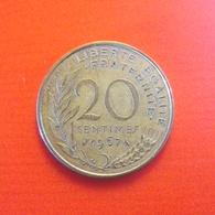 20 Centimes Münze Aus Frankreich Von 1967 (sehr Schön) - France