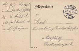 Feldpostkarte Obl ERSTEIN / * *  A Du 15.11.16 Adressée à Straßburg - Alsace Lorraine