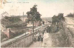GENVAL - La Gare - Une Arrivée Cpa Coloriée Circulée 1908 - Rixensart