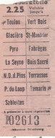 """T.RARE TICKET DE BUS DE 1932.TOULON A TAMARIS.ALLER SIMPLE.COMPAGNIE """"BUS ETOILE"""".B.ETAT.A SAISIR - Bus"""