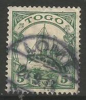 German Togo - 1901 Kaiser's Yacht 5pf Used   Sc 8 - Colony: Togo