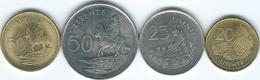 Lesotho - 20 (1998 - KM64) 25 (1979 - KM20) & 50 Lisente (1983 - KM21 & 1998 - KM65) - Lesotho