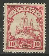 German Togo - 1901 Kaiser's Yacht 10pf MH *   Sc 9 - Colony: Togo