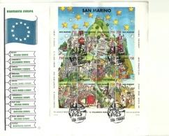 1993 - San Marino BF 48 Bandiera Europea - FDC - Buste