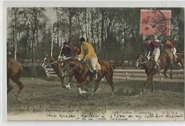 Cpa Hippisme Les Courses D'obstacles ( état ) - Horse Show