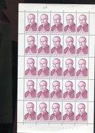 Belgie 1969 1499 Mgr Scheppers Painting Luppi Full Sheet MNH Plaatnummer 3 - Full Sheets