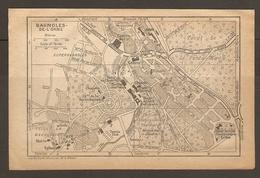 CARTE PLAN 1933 - BAGNOLES De L'ORNE TENNIS CLUB CASINO ANCIEN ABRI JANOLIN PAVILLON Des FLEURS CHAMP De COURSE - Carte Topografiche