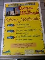 Affiche Château  De Mauvezin Soirée Médiévale - Posters