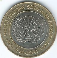 Lesotho - 1995 - 5 Maloti - 50th Anniversary Of The UN - KM67 - Lesotho