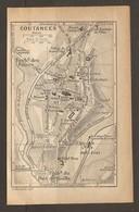 CARTE PLAN 1933 - COUTANCES Anc. AQUEDUC Fbg Des PILIERS De GUERNEY Du PONT De SOULLE - Topographical Maps