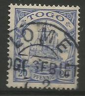 German Togo - 1901 Kaiser's Yacht 20pf Used   Sc 10 - Colony: Togo