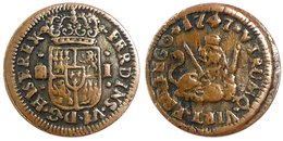 ESPANA - Ferdinand VI - 1 Maravedi 1747. - Monnaies Provinciales