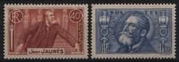 Frankreich 1936 - Mi-Nr. 324-325 ** - MNH - Jean Jaures - Frankreich