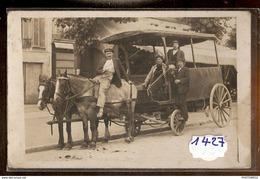 1427 TRANSPORT CARTE PHOTO ATTELLAGE DE CHEVAUX TTB - Altri