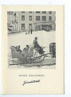 Grindelwald Hôtel Belvédère ( Document En 4 Volets Au Format CPM ) - BE Berne