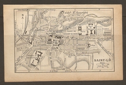 CARTE PLAN 1933 - SAINT LO BON SAUVEUR CASERNE HARAS NATIONAL DEPOT De La REMONTE LA DOLLEE ECLUSE ARCHIVES - Cartes Topographiques