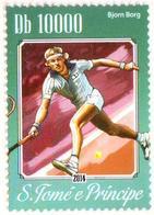 SAO TOME  - 1v - MNH - Björn Borg - Swedish Tennis Player - Sweden - Sport - Tennis