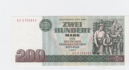 Billet  DDR De 200 Mark  De 1985  Pick 32 Neuf - 200 Deutsche Mark